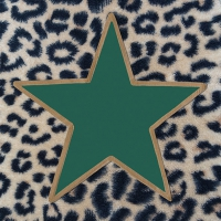 Servietten 33x33 cm - Wildlife Star Green