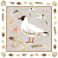 Servietten 33x33 cm - Black-Headed Seagull Sand
