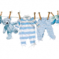 Servietten 33x33 cm - Baby Boy Clothes