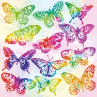Servietten 33x33 cm - Aquarell Butterflies Mix