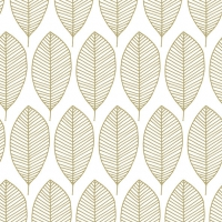 Napkins 33x33 cm - Oval Leaves Gold