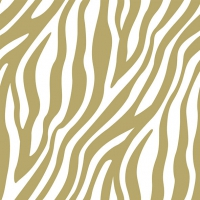 Servietten 33x33 cm - Zebra Stripes Gold