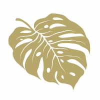 Servietten 33x33 cm - Monstera Gold