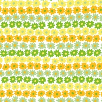 Servietten 33x33 cm - Happy Flowers Yellow