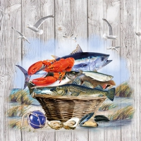 Napkins 33x33 cm - Catch Of The Day