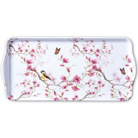 Tablett  Bird & Blossom White