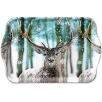 Tablett - 13X21cm Winter Deer