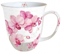 Porzellan-Tasse Mug 0.4 L Orchids With Love