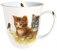 Porzellan-Tasse Mug 0.4 L Kitten Friend