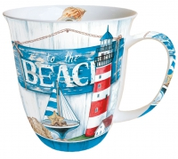 Porzellan-Tasse - To The Beach
