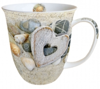 Porzellan-Tasse - Heart And Stones