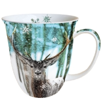 Porzellan-Tasse -  0.4 L Winter Deer