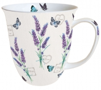 Porzellan-Tasse - Lavender With Love Cream