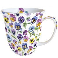 Porzellan-Tasse - Pansy All Over