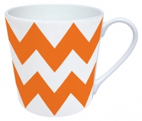Porzellan-Henkelbecher MUG ZIG ZAG ORANGE