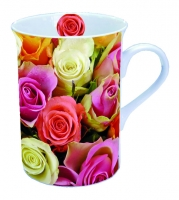 Porzellan-Henkelbecher MUG 0.25 L COLOURFUL ROSES