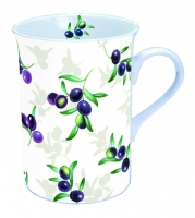 Porzellan-Henkelbecher MUG 0.25 L OLIVES ALL OVER