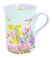 Porcelain Cup - Blooming Garden Turquoise