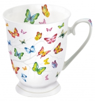 Porzellan-Tasse - Colourful Butterflies