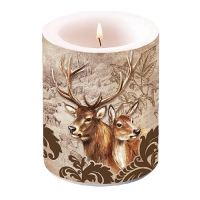 Dekorkerze Deer Couple Brown