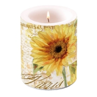 Kerze Candle Big Tournesol