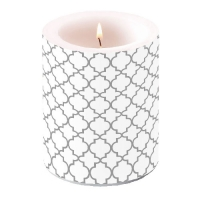 Kerze Candle Big Ogee Silver Outline