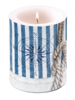 Kerze Candle Big Compass And Rope