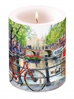 Kerze Candle Big Amsterdam Canal