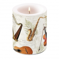 decorative candle - Music