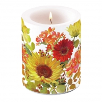 decorative candle - Sunny Flowers Cream