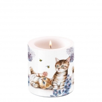 Decorative candle small - Cats And Bees