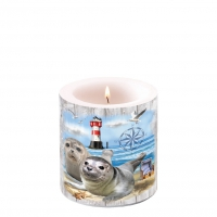 Decorative candle small - Seal Couple