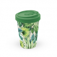 Bamboo mug To-Go - Tropical Leaves