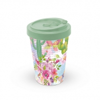 Bamboo mug To-Go - Roses And Cacti