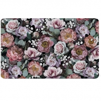 Breakfast Tray - Vintage Flowers Black