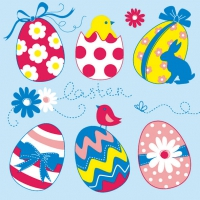 Lunch Servietten EASTER EGGS COLLECTION BLUE