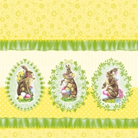Lunch Servietten Nostalgic Easter Yellow