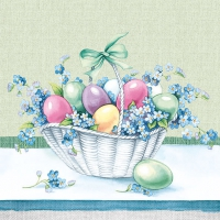 Lunch Servietten Eastereggs In Bucket green