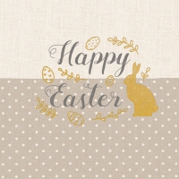 Servietten 33x33 cm - Embroidery Easter Taupe