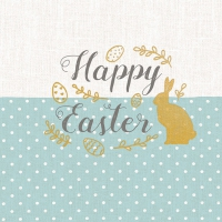 Servietten 33x33 cm - Embroidery Easter Blue