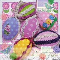 Napkins 33x33 cm - Eggs With Ribbon