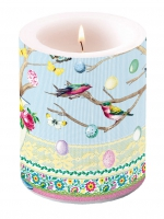 Kerze Candle Big Easter Branch