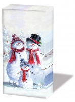 handkerchiefs - Snowman With Hat