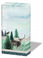 handkerchiefs - Deer Winterscene