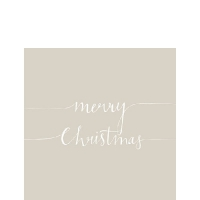 Servietten 25x25 cm - Christmas Note Stone
