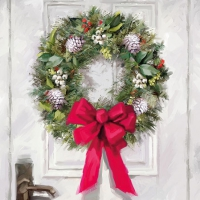 Cocktail Servietten White Wreath