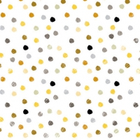 Cocktail Servietten Swirling Dots White