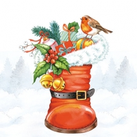 Servietten 25x25 cm - Christmas Boot