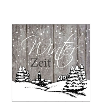Cocktail Servietten Winter Zeit Grey