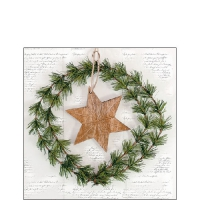 Servietten 25x25 cm - Wreath And Star